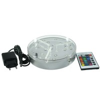 BASE LED 15,5cm CON BATERIA INCLUIDA Y MANDO A DISTANCIA